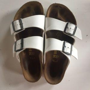 Birkenstock Shoes - White Arizona Birkenstocks